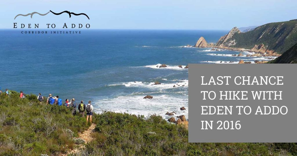 last change to hike with eden to addo